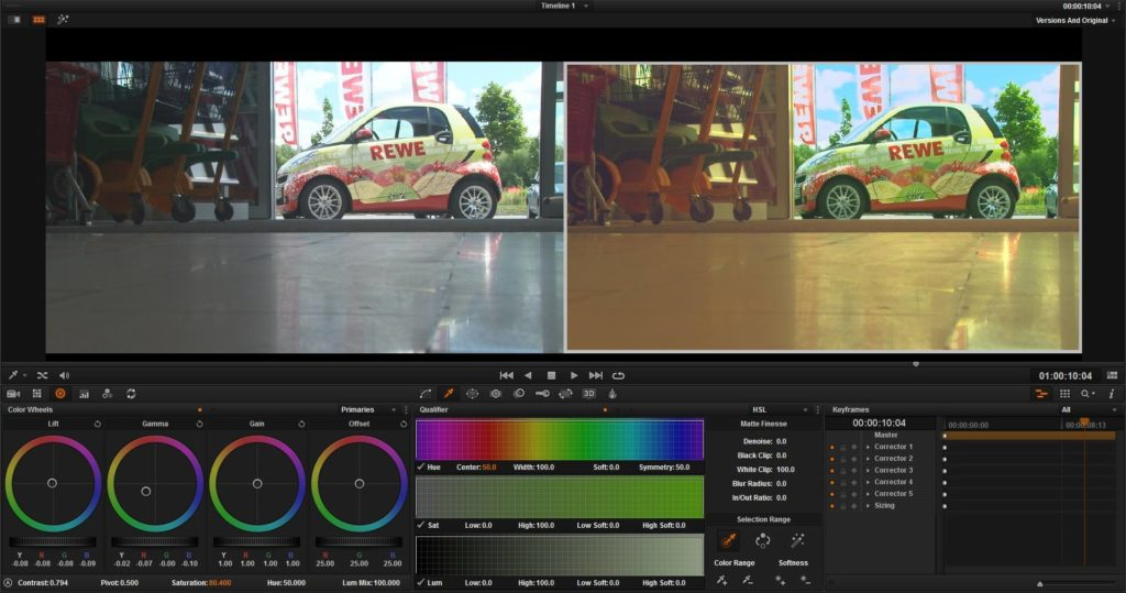Postproduktion - Davinci Resolve