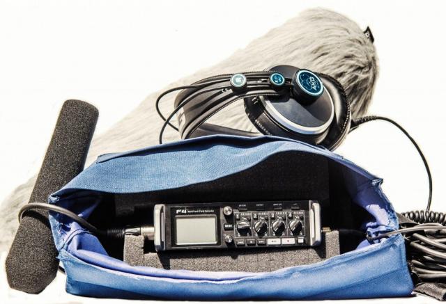Richtmikrofon und Tonmischer