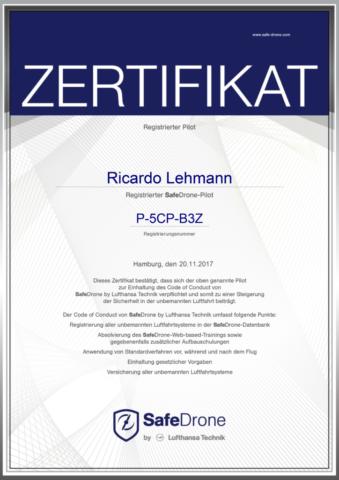 Zertifikat - Drohnenpilot